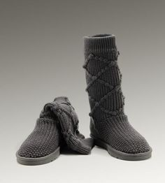 UGG Classic Argly Knit 5879 Grey For Sale In UGG Outlet