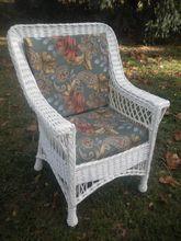 Bar Harbor Wicker Arm Chair Circa 1920's