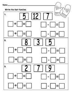 First Grade Math: Fact Families on Pinterest | Addition And ...
