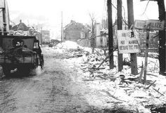 Houffalize, Belgium during The Battle of The Bulge.