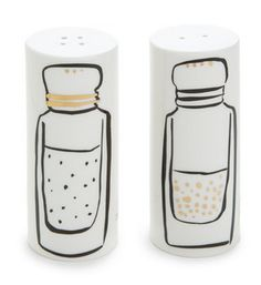 How cute are these Kate Spade salt and pepper shakers?