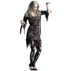 Why not dress up in a sexy #zombie lady #costume?