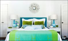 Blue and green girl bedroom