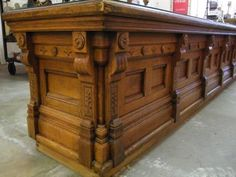 Eastlake style Victorian store counter