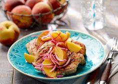 Grillowany schab z brzoskwiniową salsą #lidl #przepis #grill #schab #brzoskwinia