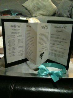 DIY wedding programs!
