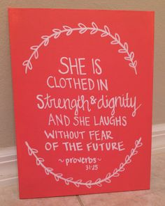 Quote Canvas Scripture Proverbs 3125 by AbiMariah on Etsy, $20.00