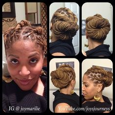 Joy Newton's (@Joy Newton) loose twists and bun. Nice style.