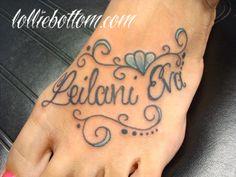 her daughter's name with filigree by lollie  national award winning tattoo artist  precision body art : tulsa, ok  www.lolliebottom.com