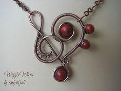 wigg wire, bead, bijoux, inspir, clef heart, sulyokjuli, wire pendant, heart pendant, jewelri wire