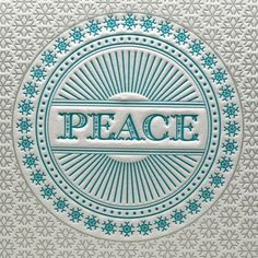 christmas cards, blue, holiday cards, peace, one word, letter press, holidays, letterpress, design