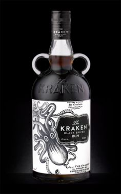 the kraken spiced rum. i would buy this if I saw it for the packaging alone.