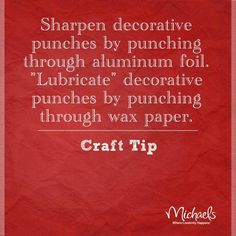 How to sharpen or lubricate your punches