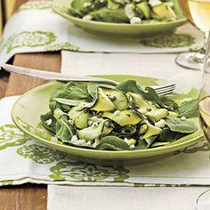 mints, grilling recipes, fresh zucchini recipes, ribbons, healthi food, summer salads, zucchini ribbon, zucchini spinach feta salad, vegetable recipes