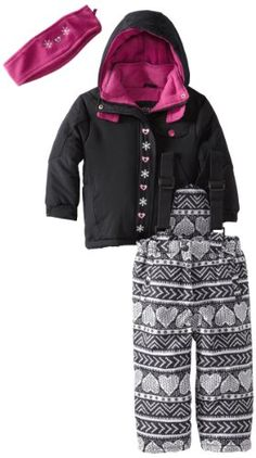 Pink Platinum Girls 2-6X Heart Printed Snowsuit - List price: $125.00 Price: $33.99 Saving: $91.01 (73%)