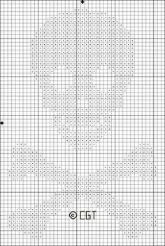Skull & Bones Cross Stitch or Crochet Graph Pattern