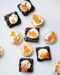 7-Minute Salmon Caviar Sushi Bites Recipe from Food & Wine