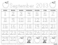 Traceable & Blank Monthly Calendar Templates