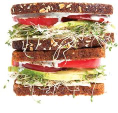 heirloom tomatoes ~Sprouts, avocado, tomato, & jack cheese sandwiches ...