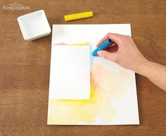 How To: Create Your Own Watercolor Background (using Gelatos)