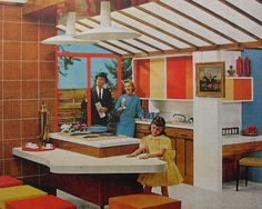 1950s Kitchen Bold Solid Color