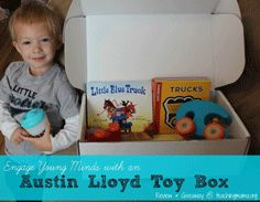 Austin Lloyd Toy Box ... monthly themed toy set for set age groups. Plus, donate your old toys for free through their service.