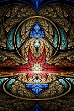 by Ross Hilbert at fractalsciencekit.com fractal art, stain glass, stained glass