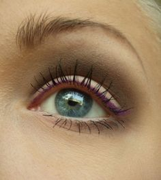 Eye makeup - subtle/natural eye with plum liner for a pop of color
