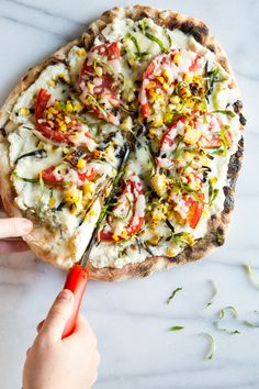 grizza | grilled vegetable pizza