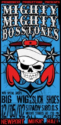 Mighty Mighty Bosstones, you have to see them live if just to see the dancing fat man!