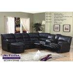 $1790.00  McFerran Home Furnishings - Leather Black Sectional Sofa - SF2004