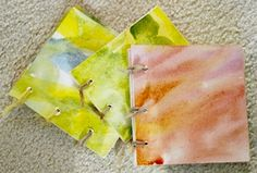 Little books made from old art, cut up to make special covers. So sweet!