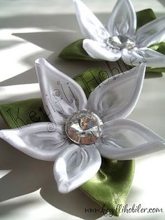 Ribbon Embroidery How-to |otus flower satin ribbon, flore, lotus, craft, diari, ribbons, flower tutorial, flowers, ribbon flower