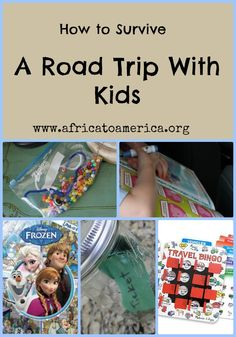 Activities to entertain kids on long road trips.