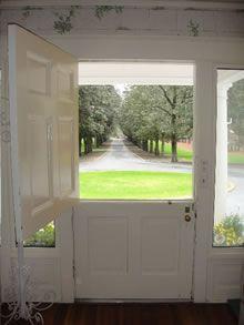 Dutch door is my favorite, says welcome.