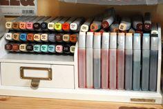 Color Me Copic: copic marker storage