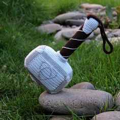 Please note that this is a pattern (PDF file), but not a toy. The pattern is available in Russian and English. This crochet pattern contains 19 pages a detailed description of how to create Hammer of Thor, with a great amount of step-by-step photos and a list of necessary materials.