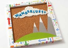 DIYCork Board with Mod Podge Collage Clay and Melts ~ Perfect for Back to School!