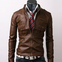 Get a slim fit leather for fall!  It's a good look.