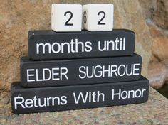 Missionary Gift Countdown Blocks Return by DaisyBlossomCreation gift countdown, missionari gift