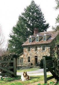 Old fieldstone farmhouse w/Lassie