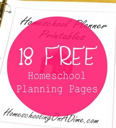Cute printable homeschool planning pages to add to a homeschooling binder or planner.