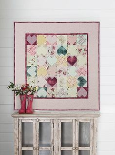Candy Hearts Quilt K