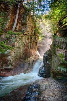 Sabbaday Falls in New Hampshire, courtesy Jamie Murray. #waterfall