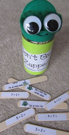Swamp Frog First Graders: Don't Get Zapped! addition version (Make into a multiplication and division version for 4th grade!)