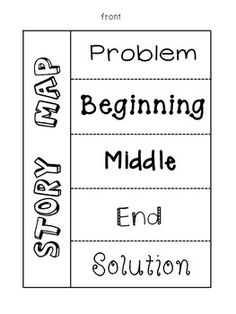 Story Map Foldables- includes 4 different versions. Great for literacy centers and reader's notebooks!