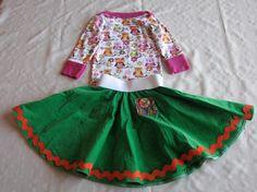 Owl Skirt Set by ShayeLeesPlace on Etsy, $35.00