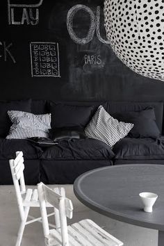 black board- I really really really want to have a blackboard wall!!!!!!!!!!