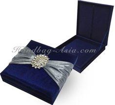 Midnight Blue Wedding Invitation Box