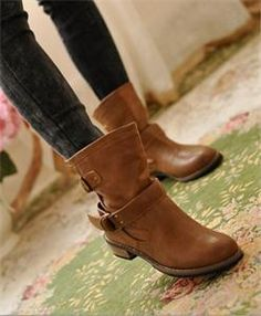 Ankle Boots Flat Vin